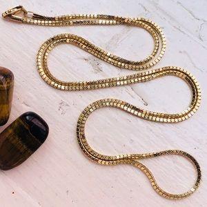 Milor 14k Yellow Gold Diamond Cut Box Link Chain